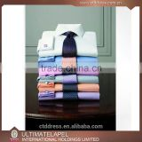 100% cotton high quality custom wholesale mens white slim fit dress shirts                                                                         Quality Choice