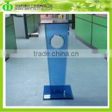 DDL-0025 ISO9001 Chinese Factory Wholesale SGS Test Lucite Blue Plexiglass Pot Pedestal for Sculpture