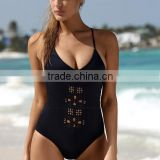 fashion hollow out sexy black monokini women swimwear YH- 1506