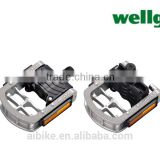 Taiwan made Wellgo pedals alloy silver bicycle folding pedals