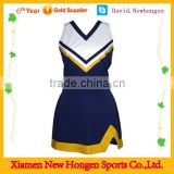 100% polyster custom made cheerleading uniforms ,blue cheer dance costumes