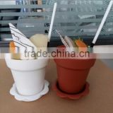HOT SALE PS FLOWER POT MOUSSE JELLY CUP WITH LID&SHOVEL DISPOSABLE ECONOMIC PACKAGING CUP