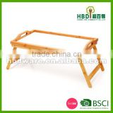 Bamboo breakfast bed tray,bamboo tray with foldable legs,bamboo tray wholesale