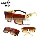 ADE WU Wholesale New fashion sunglasses summer travel essential female celebrity brand big square sunglasses cat eye glasses UV
