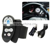 Rechargeable Car Steering Wheel Bluetooth Hands Free Speaker Kit FM12