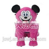 Christmas party toy for kids/ Disney Micky/plush toy rides/ electric cars/ coin operated toys/ plastic boy with plush coat