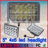 Fast selling! 5 inch auxiliary lamp 4x6 led headlights for Excavator, truck, heavy machinery equipment
