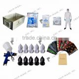 A4 size spray activator water transfer printing tank stainless steel No. LYH-WTPM003 film, spray gun, protective clothes
