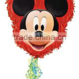 MICKEY MOUSE SHAPED PULL STRING PINATA BIRTHDAY PARTY