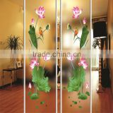 Top quality interior frosted art doors glass