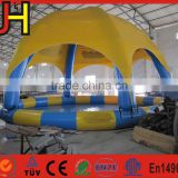 Factory Price Inflatable Party Tent With Water Pool For Backyard