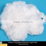 Hollow conjugated polyester staple fiber regenerated and Virgin use for filling bedding mattress pillows toys