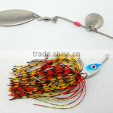 5808 vertical jigging lures lead head with rubber skirt