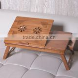 portable bamboo folding laptop table desk stand tray