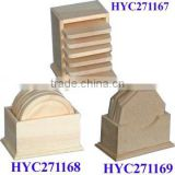 custom unfinished wooden MDF coaster wholesale