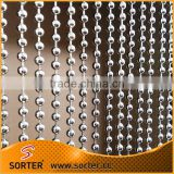 hotel decoration metal ball chain curtain/steel beaded chain curtain/anti static room divider
