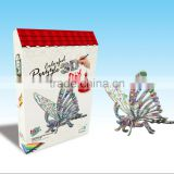 newly-developed 3D painting paper puzzle butterfly for kids LT8881B