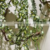 green artificial plants Ivy wall hanging leaves vines