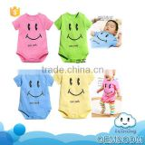 SR-033B organic baby clothes soft bodysuit cotton newborn smile face romper