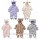 Cute Winter Warm Coral Fleece Baby Romper Cartoon Jumpsuit Overall Long sleeve Baby Clothing Baby Carters Romper
