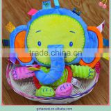Lovely elephant bell & rattle insert baby educational plush toys baby bed hanging toys