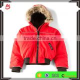 2017 OEM new style children's clothing hooded custom kids winter fur jackets wholesale in China