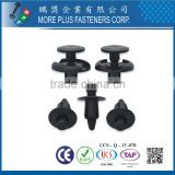 Made in Taiwan PP Nylon Easy Release Plastic Rivet Black