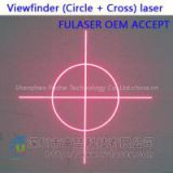 FU650SZYQ100-GD16 Diffractive optical elements(DOE) Viewfinder (Circle + Cross) pattern with
