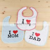 100% cotton factory directly sell stock baby bib plain white