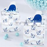 Unique Nautical Whale Favor Box Baby Shower Gifts