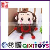 Hot sale monkey shape backpack plush animal backpack for kids