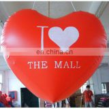 Inflatable flying balloon with helium, inflatable heart balloon