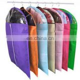 Non-woven Clothes Dustproof Cover Candy Solid Color Clothes Hanging Visiable Organizer S M L