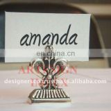 Silver Wedding Favor Place Card Holder