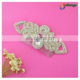 Rhinestone bridal accessories spike hair comb for ladies