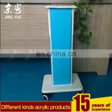 Blue and white pmma plexiglass physiotherapy display stand acrylic physiotherap display rack