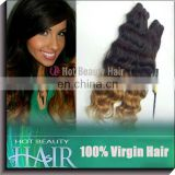 indian wet and wavy weave ombre two tone human virgin hair