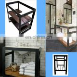 60inch king bathroom vanity metal leg