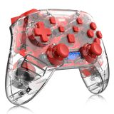 Nintendo game controller wireless vibration body sense switch handle transparent