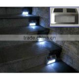 2pcs Solar LED Light Pathway Path Step Stair Wall Garden Yard Lamp