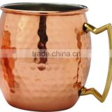 Rainbow color Copper Barrel Mug for Rainbow color Moscow Mules - 16oz - 100% Pure Hammered Copper