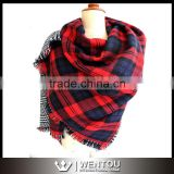 Winter Blanket Plaid Scarf