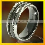steel wire inlaid mens distinctive ring jewelry