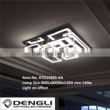 modern simple square acrylic led ceiling light for living room dinning room home villa hotel
