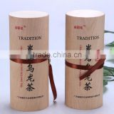 new style veneer box round tube wooden gift paking box
