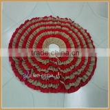 CTS012A Wholesale burlap Christmas Tree Skirt