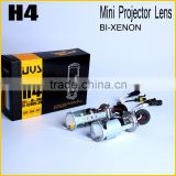 high quality auto car hid bi xenon light hid lamp type 12v 35w h4 mini projector lens lights 6000k