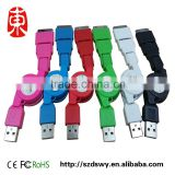 3 in 1 usb data cable sync charger Telescopic line Retractable usb cable for iPhone 5 5s 6 plus