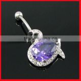 fashion navel barbell piercing