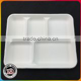 White bagasse food disposable container